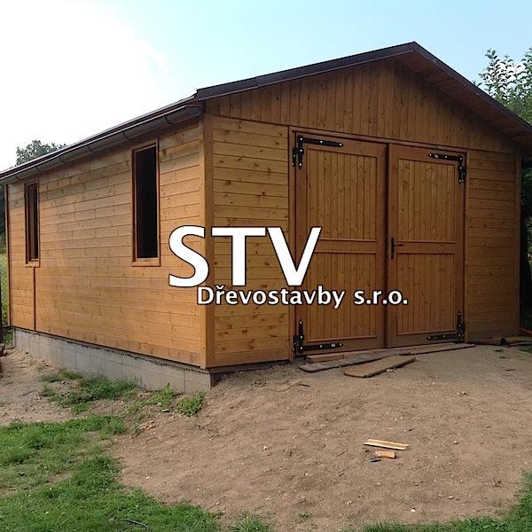 Garáž montovaná dřevěná 4,3x6,3 m