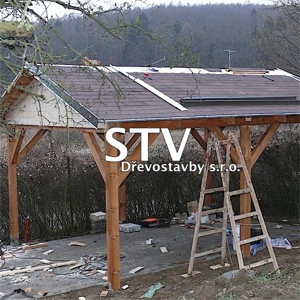 Garážové stání 4x5m A-ROOF se sedlovou střechou