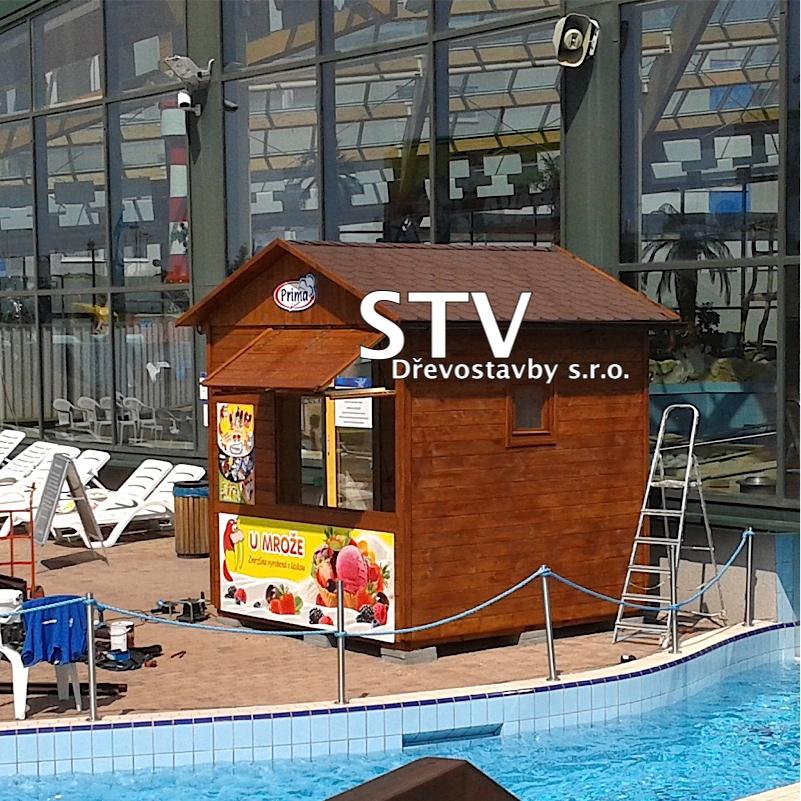 Prodejní stánky pro Aquapark Praha